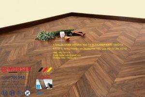 Sàn gỗ công nghiệp vân xương cá châu âu